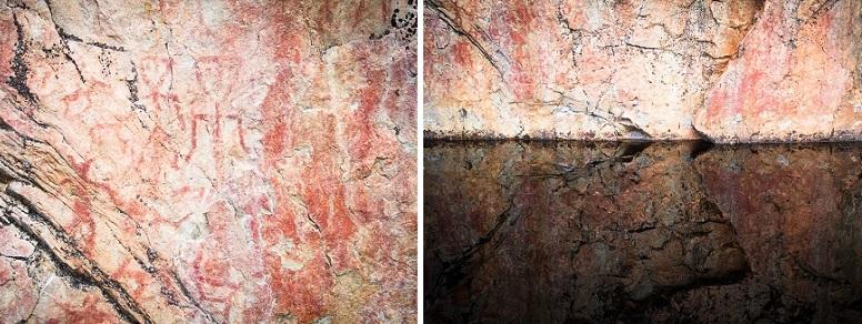 retkeily_koiran_kanssa_hossa_kalliomaalaus